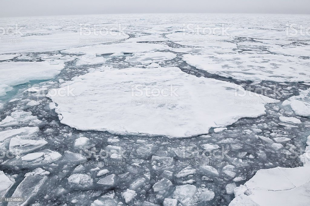 Arctic Pack Ice stock photo