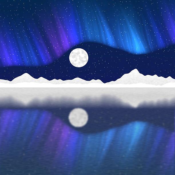 Arctic pole landscape generated hires background stock photo