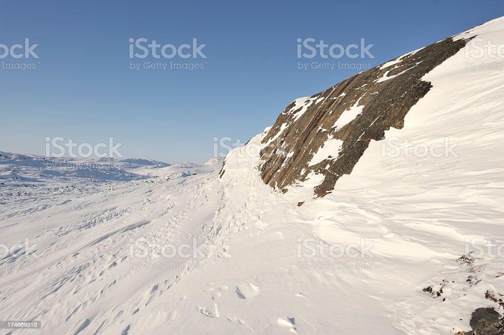 Arctic Ridge, Baffin Island. stock photo