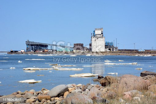 Port of Churchill, Manitoba, from across the water