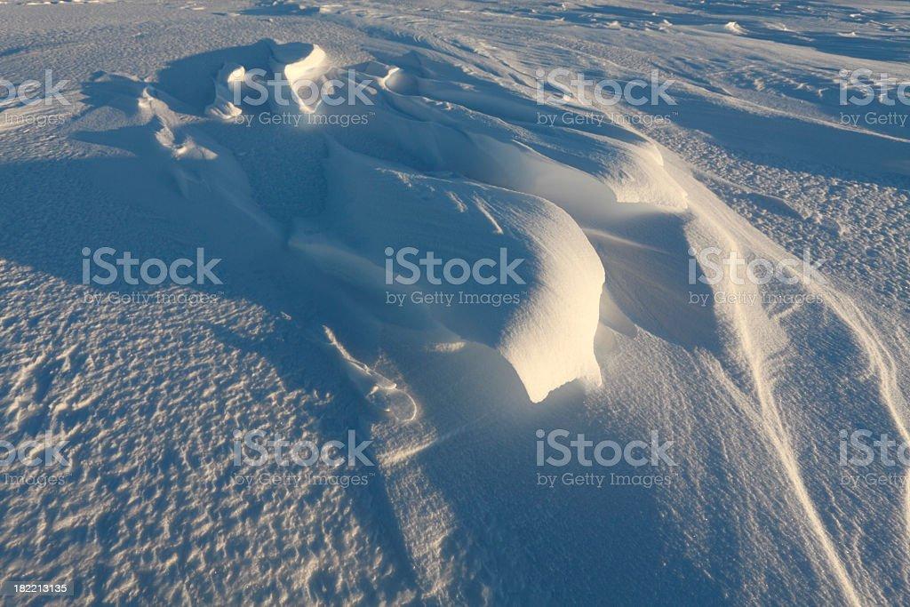 Arctic snowdrift on seacoast. royalty-free stock photo