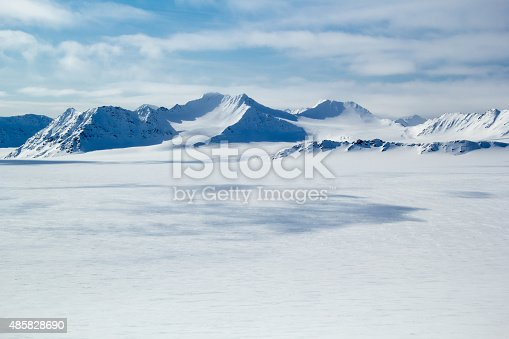 Arctic spring in south Spitsbergen. Around the fjord Hornsund.
