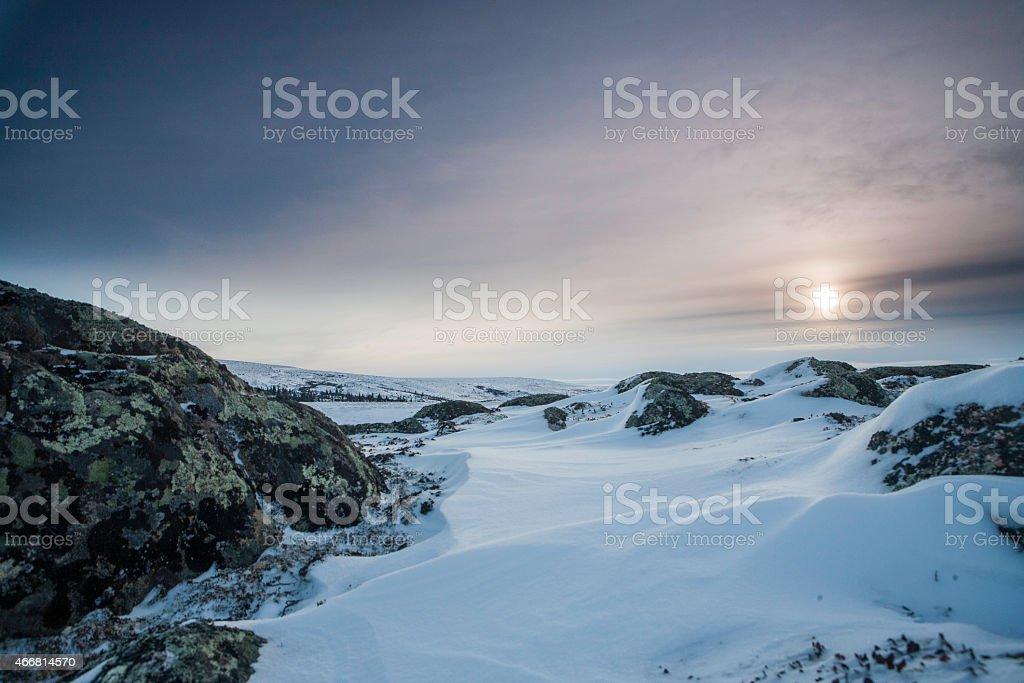arctic sun stock photo