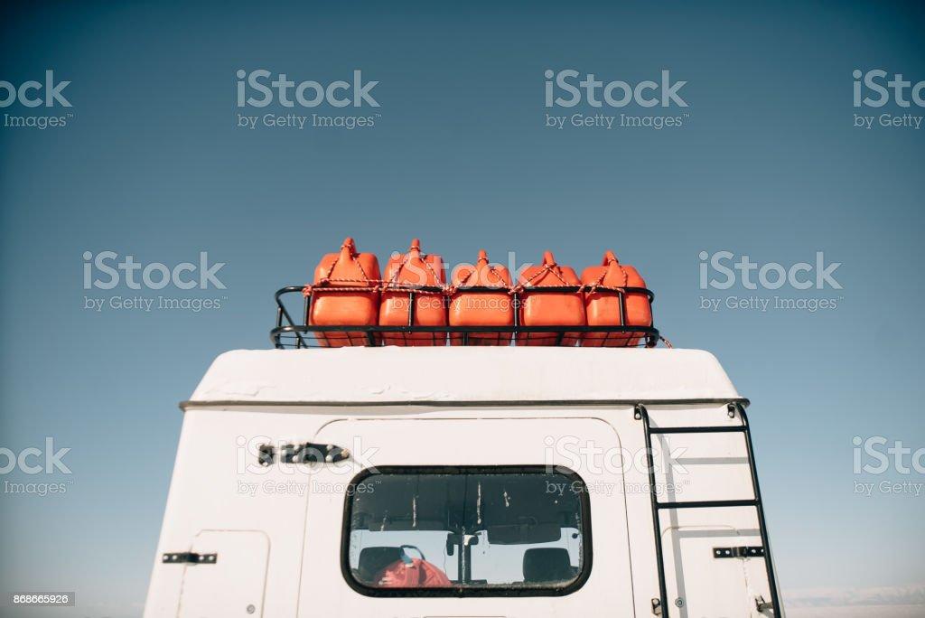 Arctic vehicle stock photo