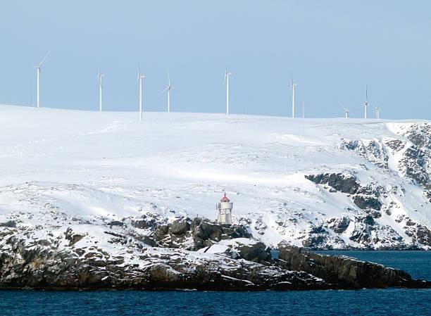 Arktische windfarm – Foto