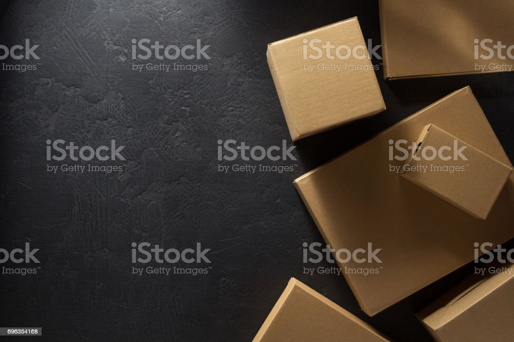 сardboard box on background stock photo
