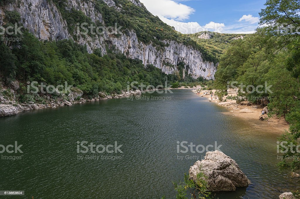 Ardeche Gorge in France stock photo