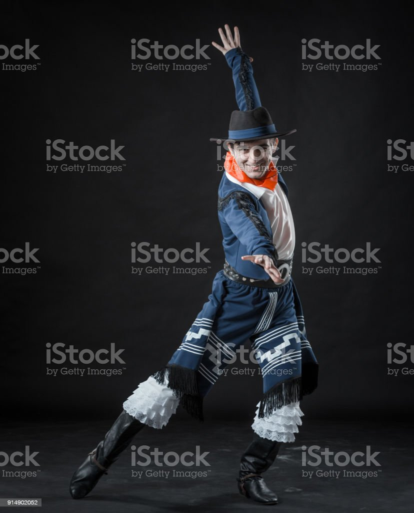 Ardent Male Dancer stock photo