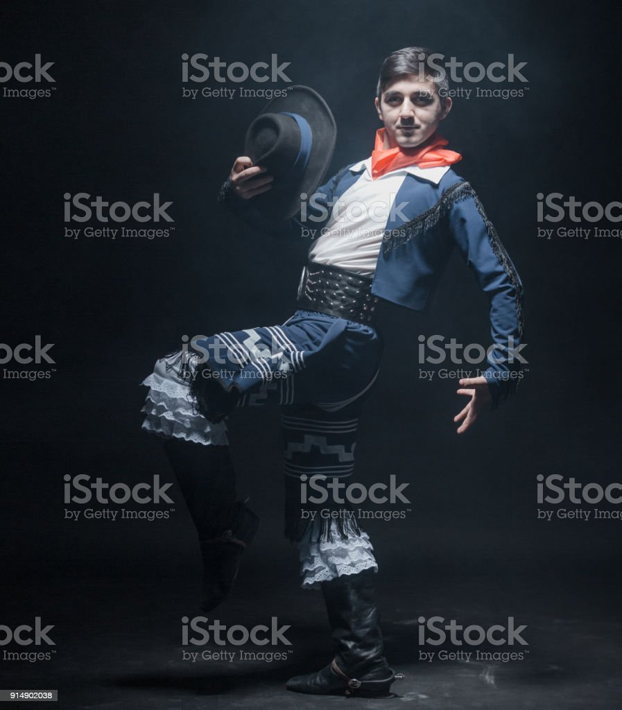 Ardent Young Dancer stock photo