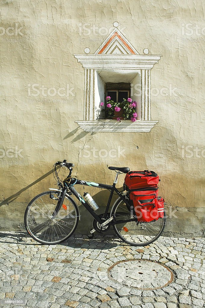 Ardez, typical village in Engadine stock photo