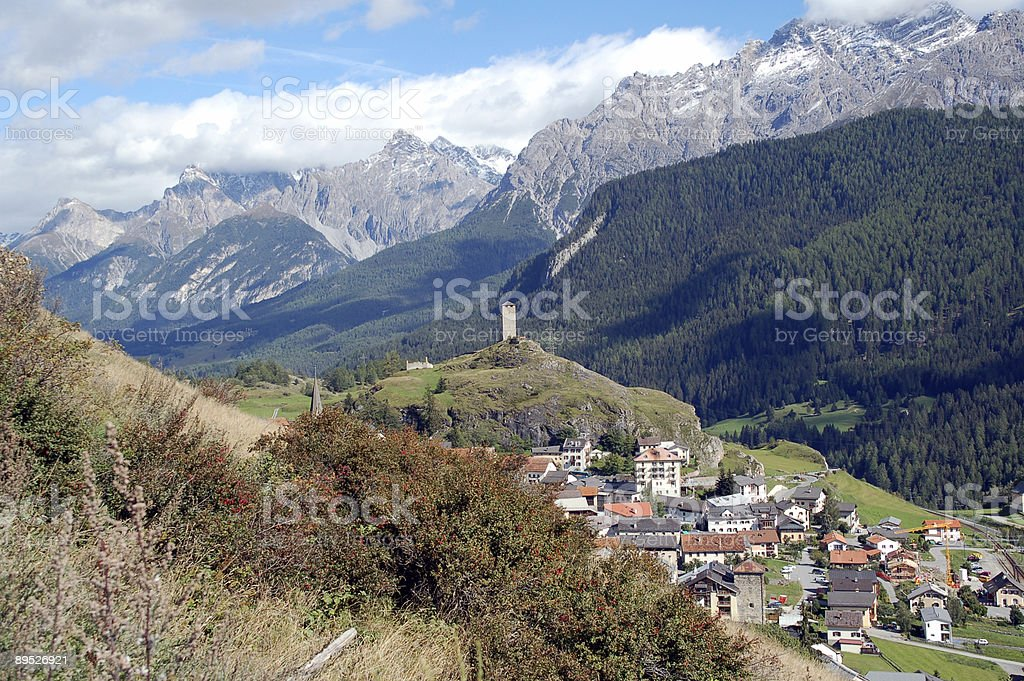Ardez Village in Switzerland royalty-free stock photo