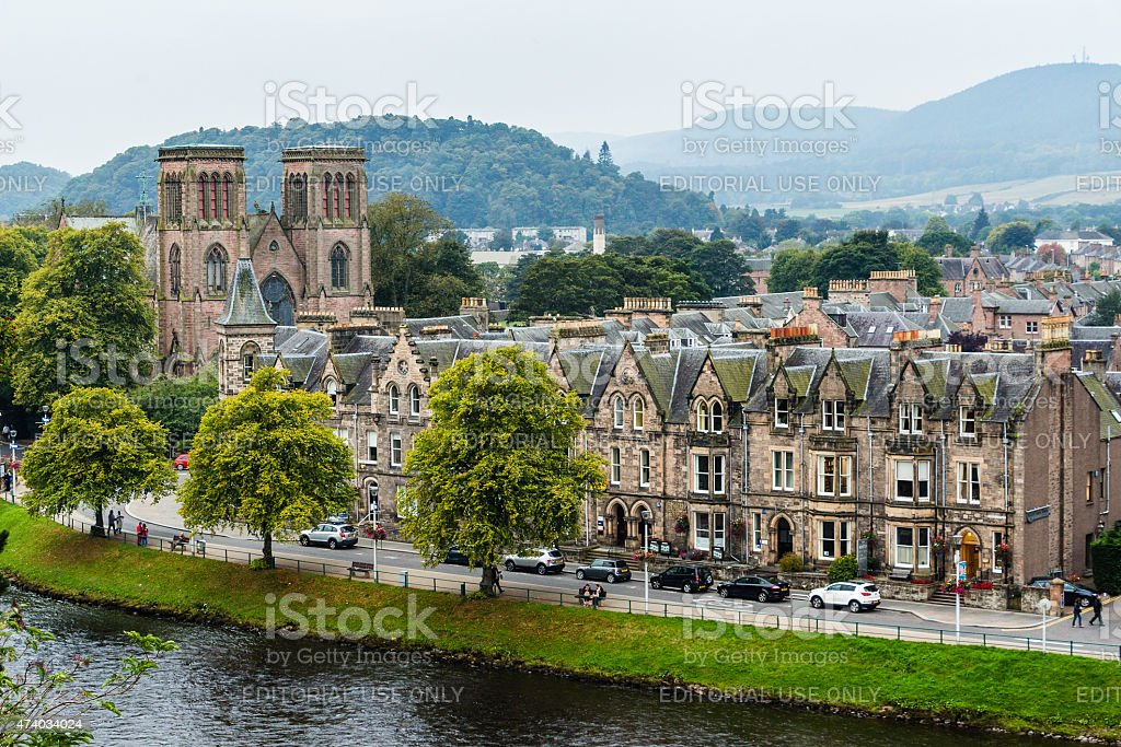 Ardross Terrace in Inverness royalty-free stock photo