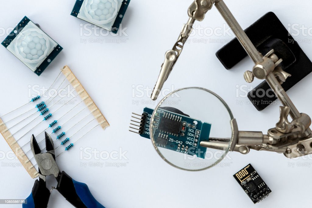 DIY arduino. stock photo