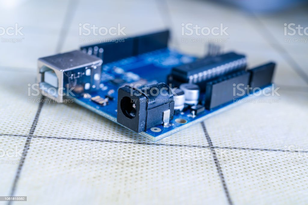 Arduino.Electronics diy development stock photo