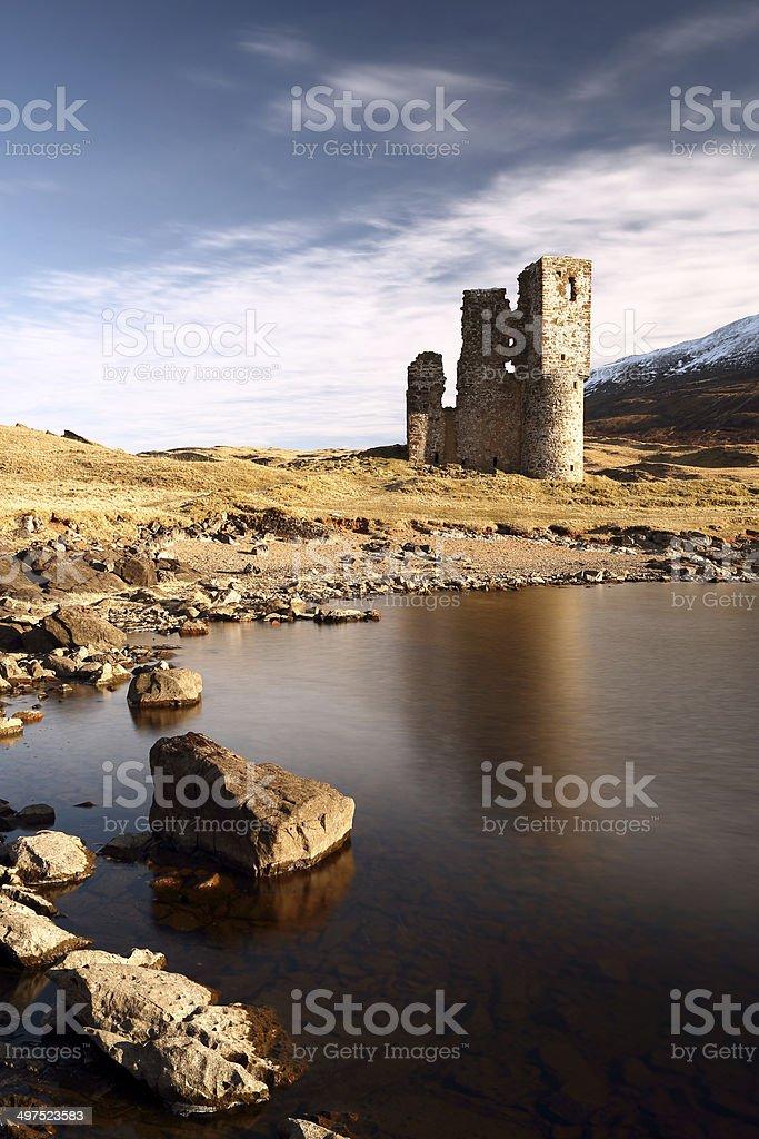 Ardvreck Castle stock photo
