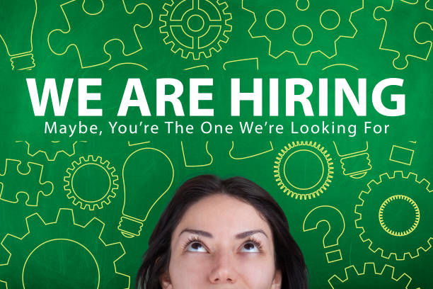 WE are hiring employment recruitment concept Employment, recruitment, hiring, help wanted, business, working, employee search help wanted sign stock pictures, royalty-free photos & images
