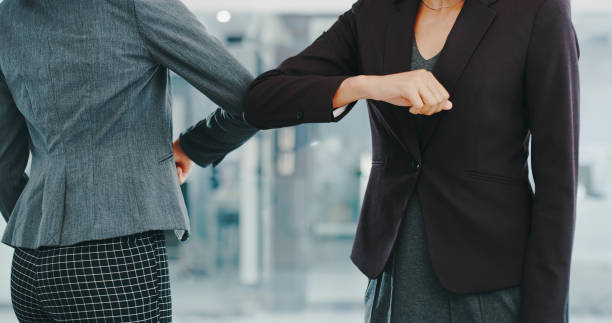 Are the days of the handshake over? stock photo