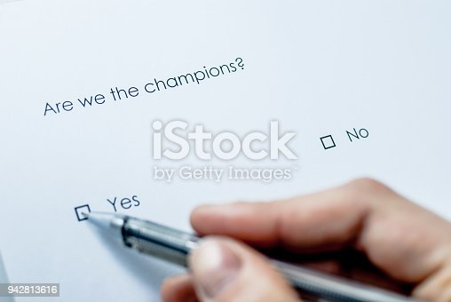 istock Are we the champions? 942813616