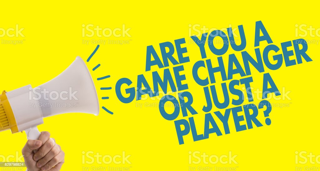 Are You a Game Changer or Just a Player? stock photo