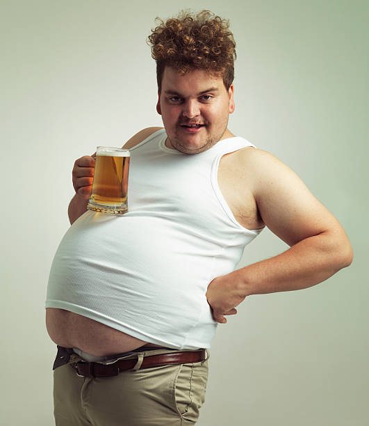 Are you admiring my beer table? stock photo