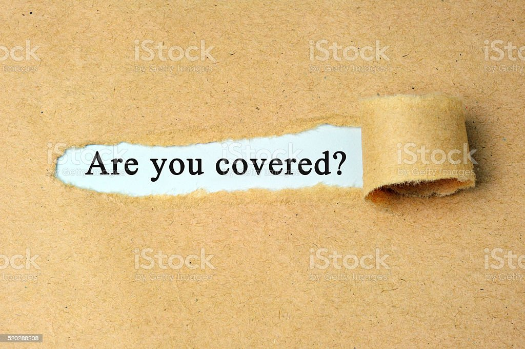 Are you covered? insurance concept stock photo