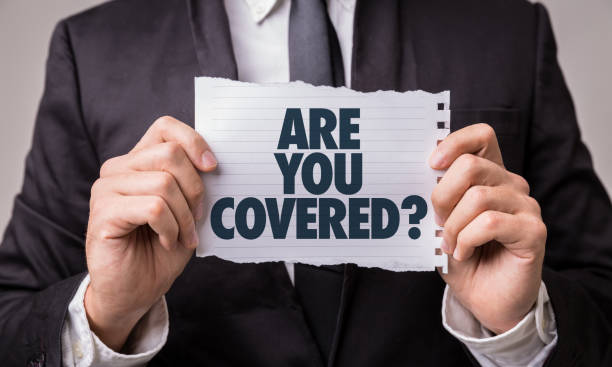are you covered? - protection stock photos and pictures