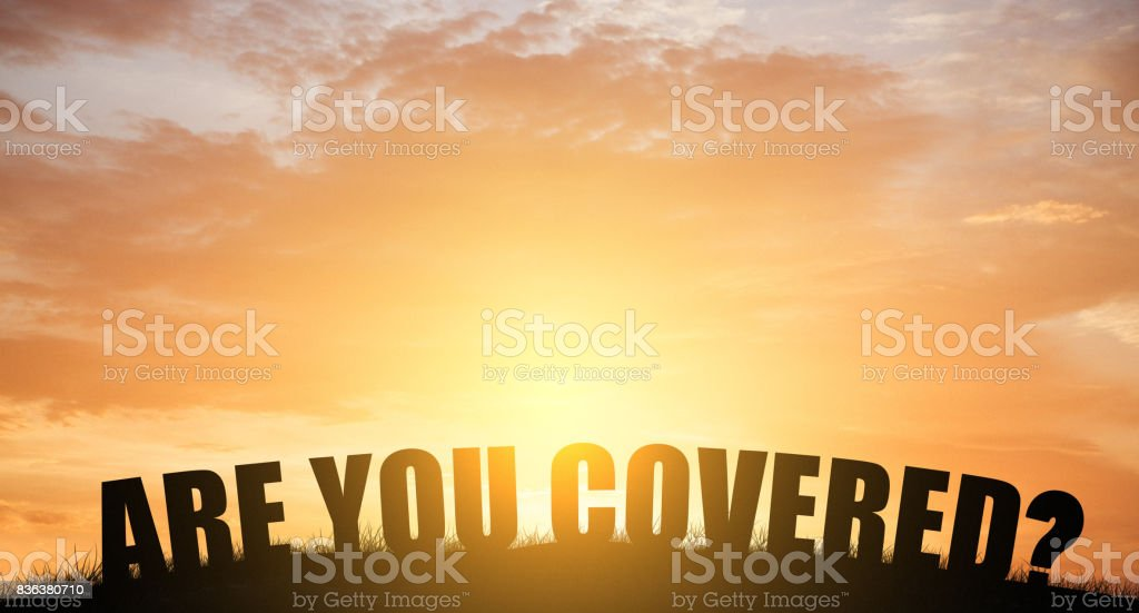 Are you covered stock photo