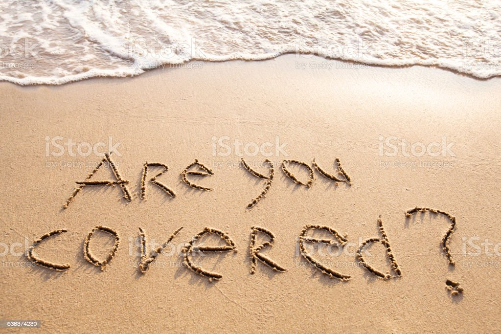 are you covered, travel insurance concept stock photo