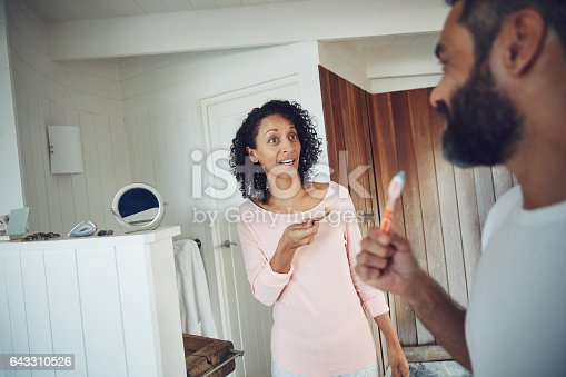 istock Are you going to shower first? 643310526