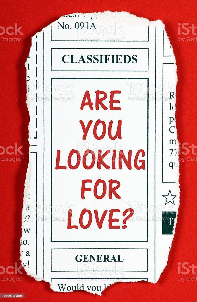 Você está à procura de amor - foto de acervo
