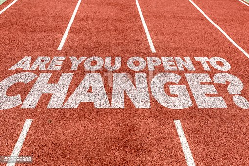 istock Are You Open to Change? written on running track 523696988