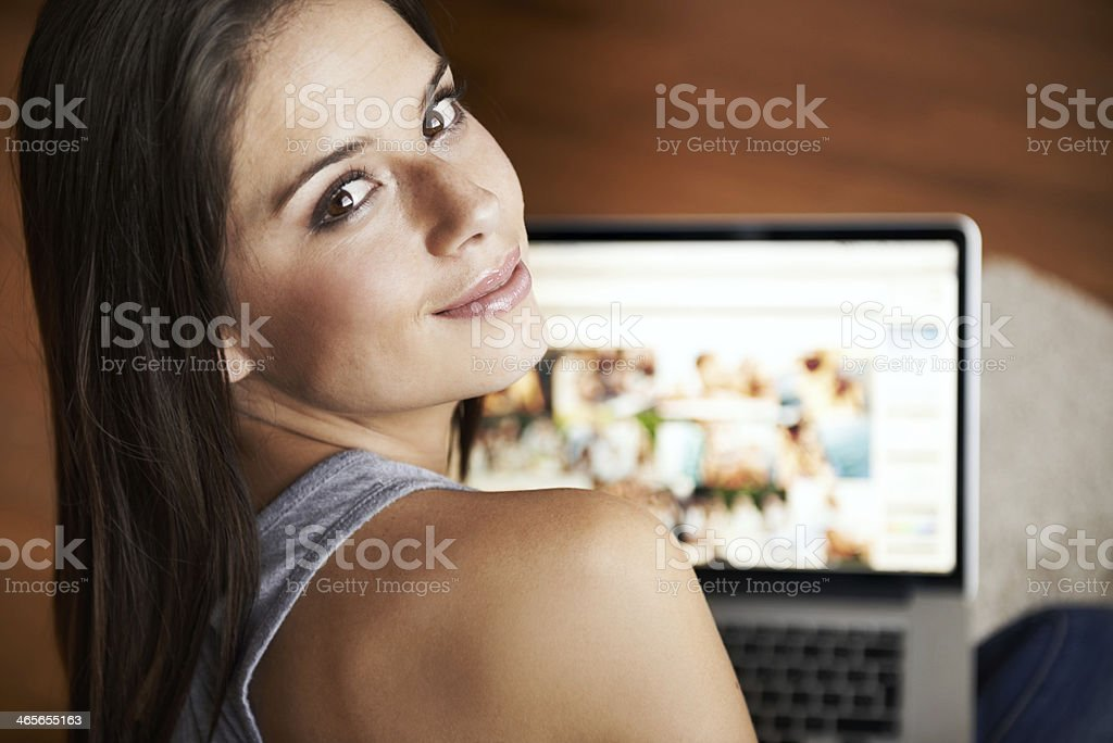 Are you reading over my shoulder? royalty-free stock photo