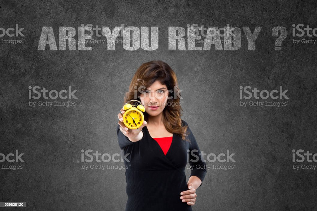 Are you ready business concept stock photo