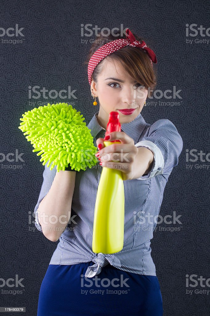 Are you ready for cleaning? royalty-free stock photo