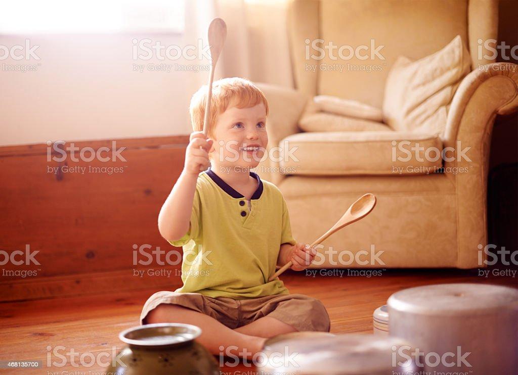 Você está pronto para o tambor sozinho? - foto de acervo