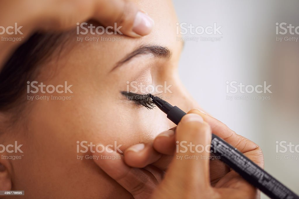 Are you ready for some sexy cat eyes? stock photo