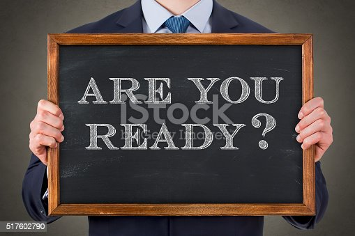 istock Are You Ready on Chalkboard 517602790