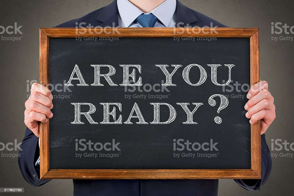 Are You Ready on Chalkboard​​​ foto