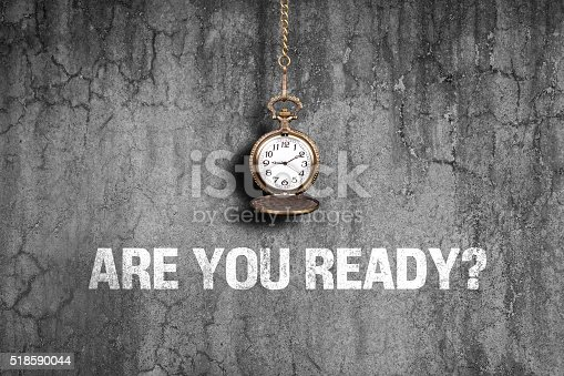 istock Are you ready on old wall 518590044