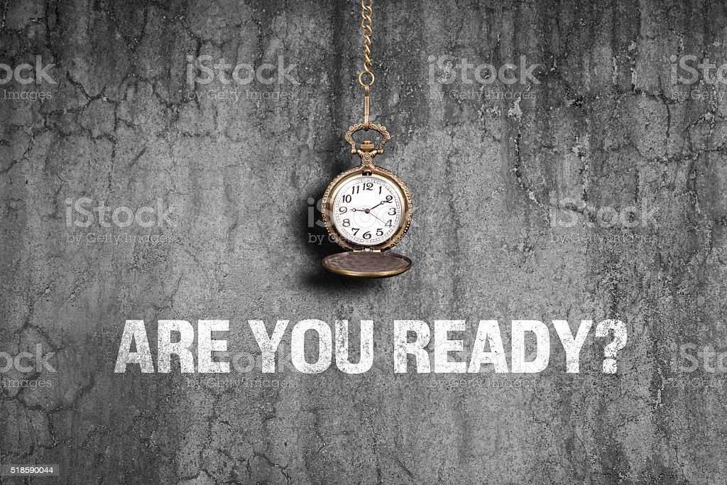 Are you ready on old wall stock photo