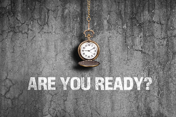 are you ready on old wall - countdown stock photos and pictures