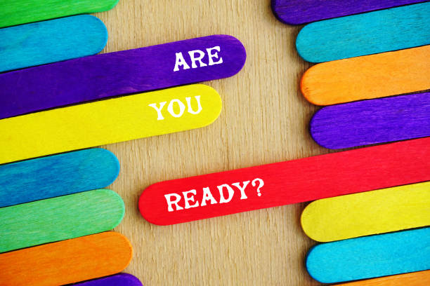 Are you Ready Quote stock photo