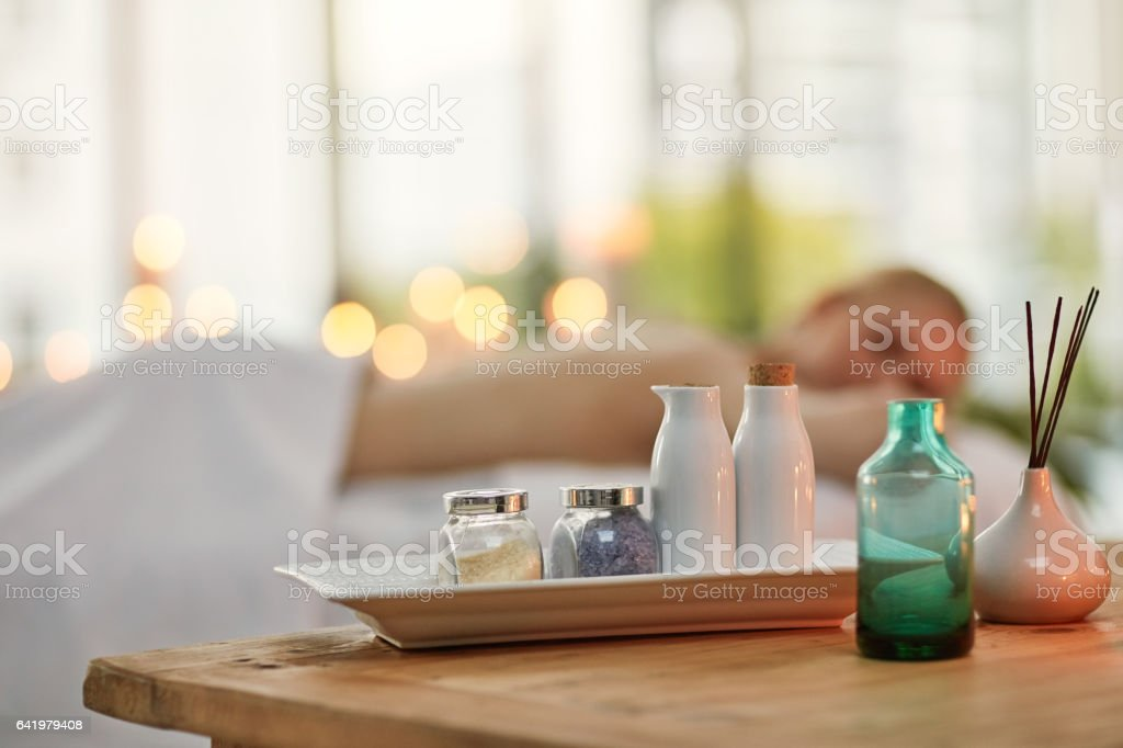 Are you ready to soak up some well-deserved pampering? stock photo