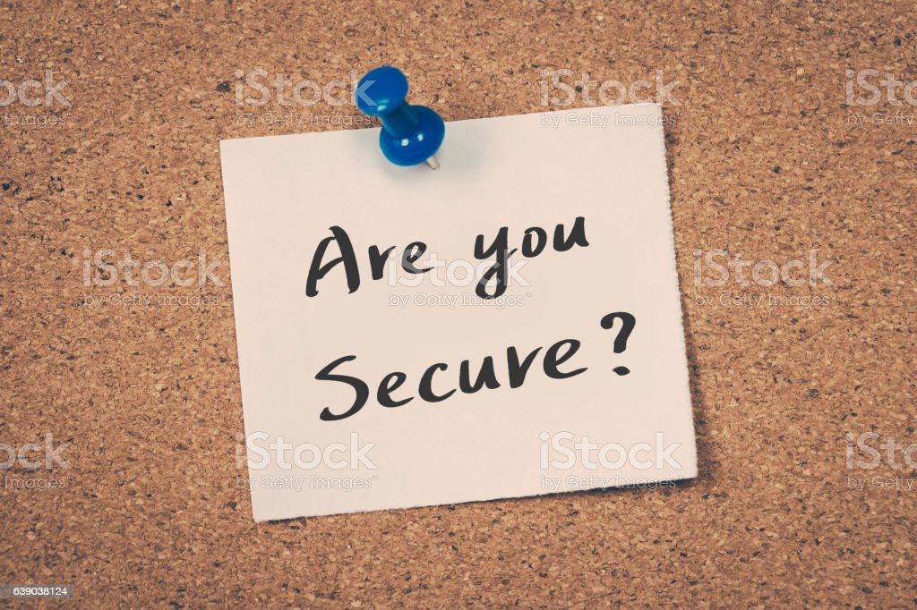 Are you secure? - Photo