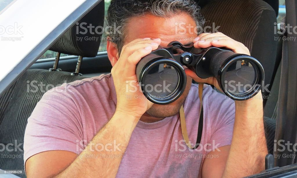 Are you sure no one sees you? stock photo