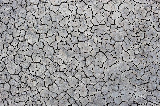 Área seca solos áridos. - foto de acervo