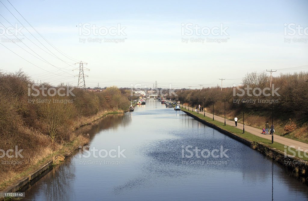 Aire & Calder Navigation Canal stock photo