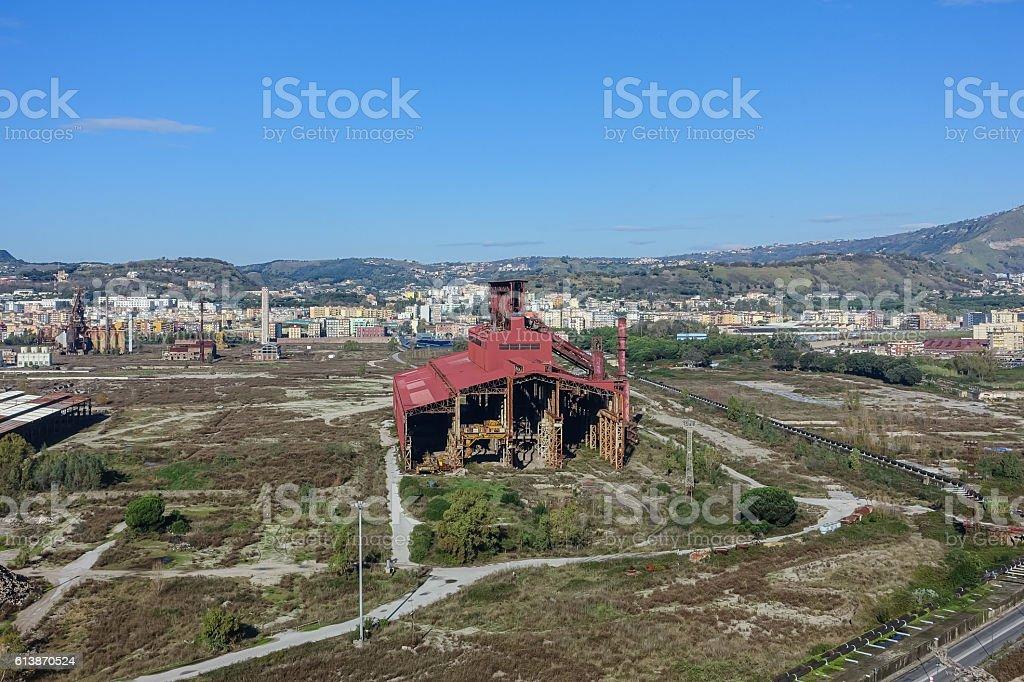 Area ex Italsider, Bagnoli stock photo