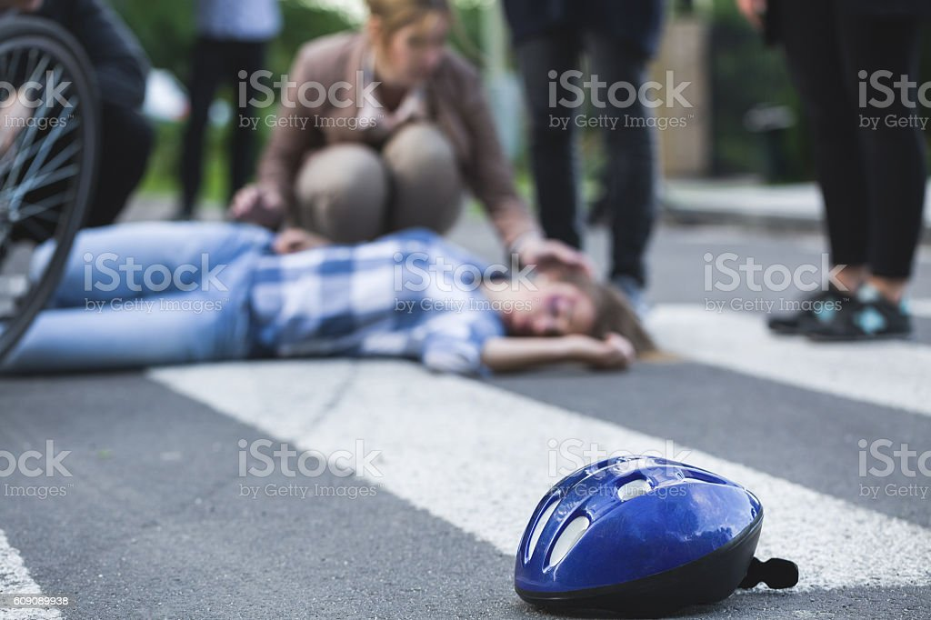 Area of a car accident stock photo