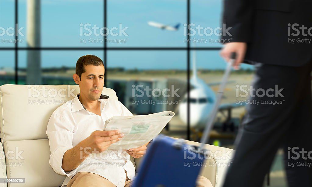 VIP area of an airport stock photo